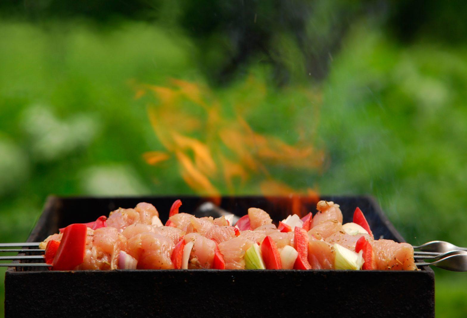 grill, barbecue, fire